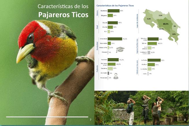 perfil de observador de aves en costa rica